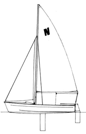 Nomad 14 (Prindle) drawing on sailboatdata.com
