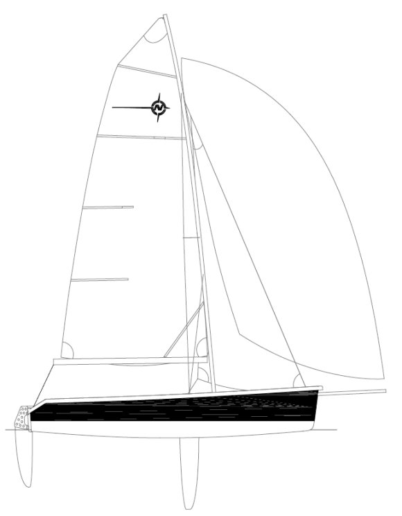 Nomad 17 drawing on sailboatdata.com