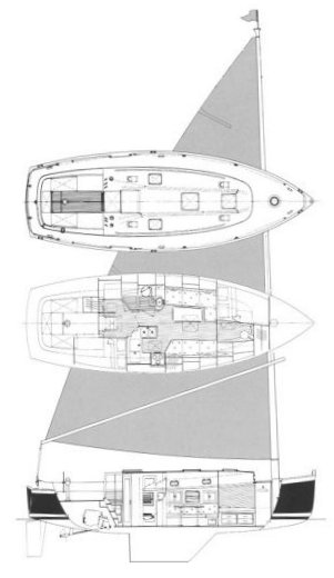Nonsuch 36 drawing on sailboatdata.com