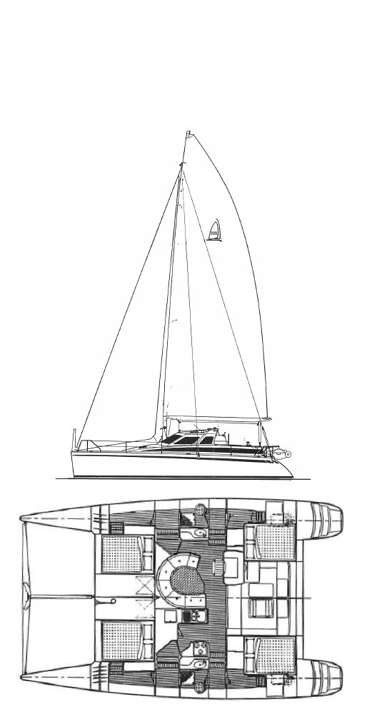 Norseman 400 drawing on sailboatdata.com