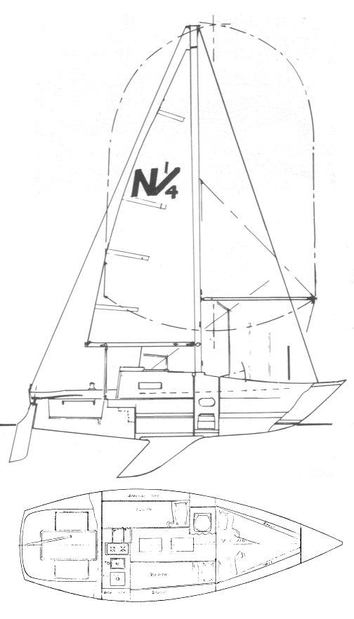 Northern 1/4 ton drawing on sailboatdata.com