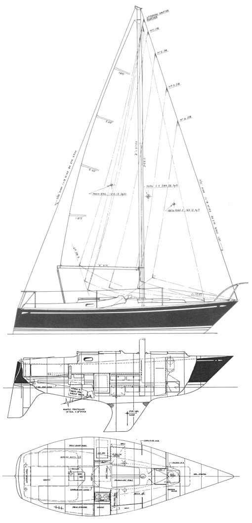NorthStar 500 drawing on sailboatdata.com