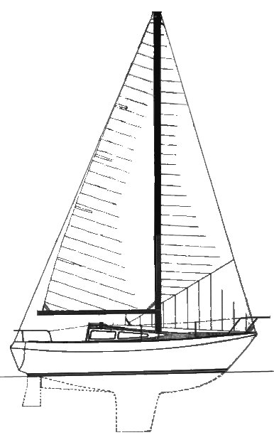 Northwest 21 drawing on sailboatdata.com