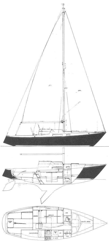 NORTHWIND 29 (PACESHIP) drawing