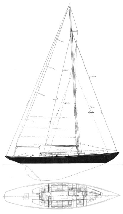 NYYC 32 drawing on sailboatdata.com