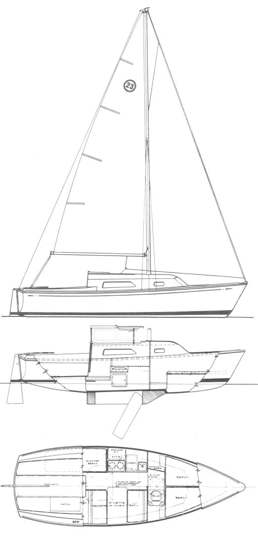 O'DAY 23-1 (LIFT TOP) drawing