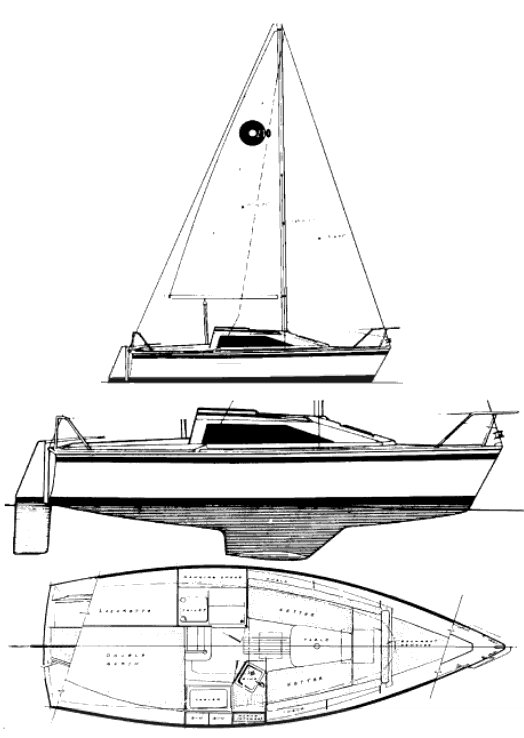 O'Day 240 drawing on sailboatdata.com