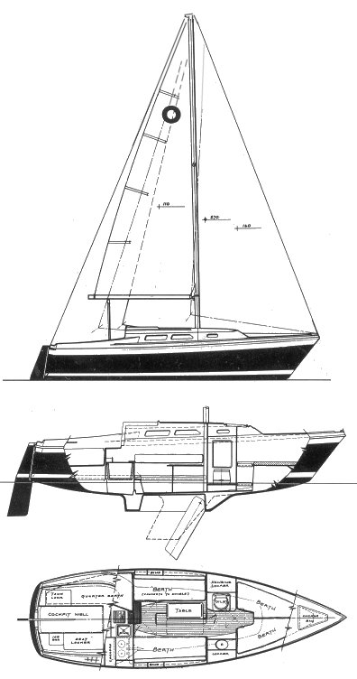 O'Day 25 drawing on sailboatdata.com