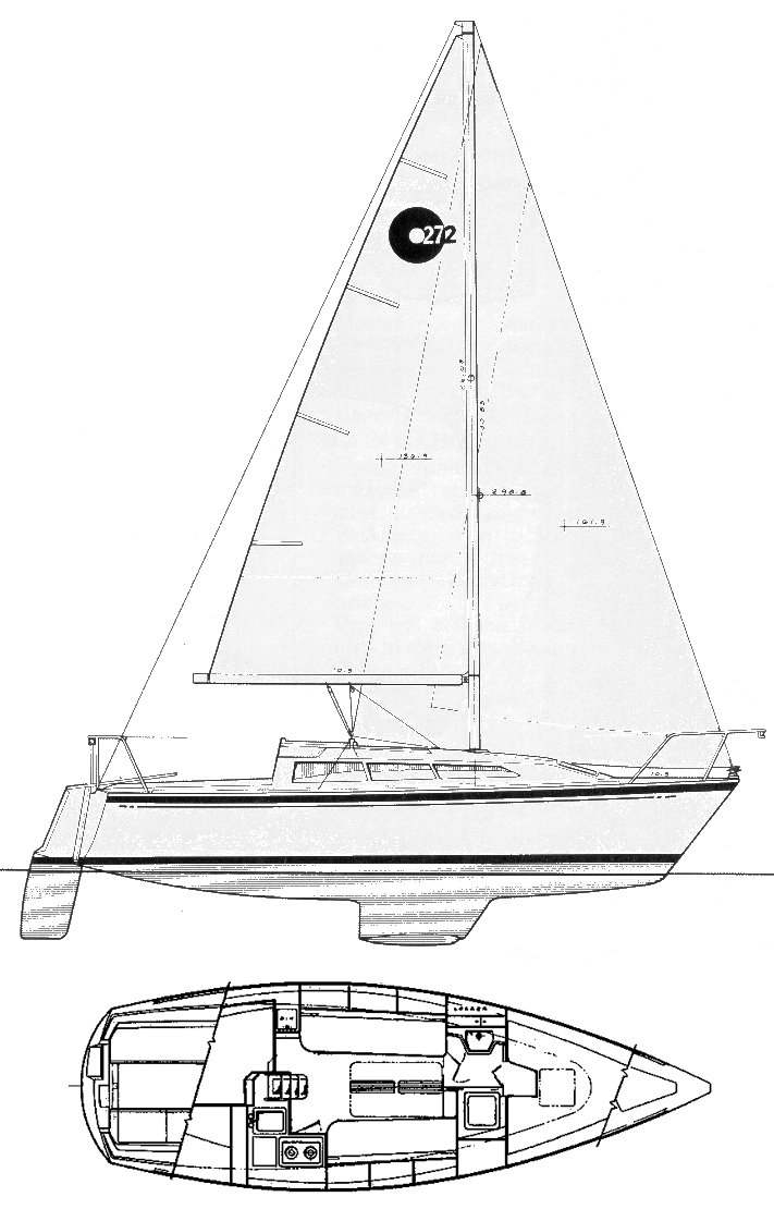 O'Day 272 drawing on sailboatdata.com