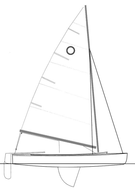 O-Jolle class drawing on sailboatdata.com