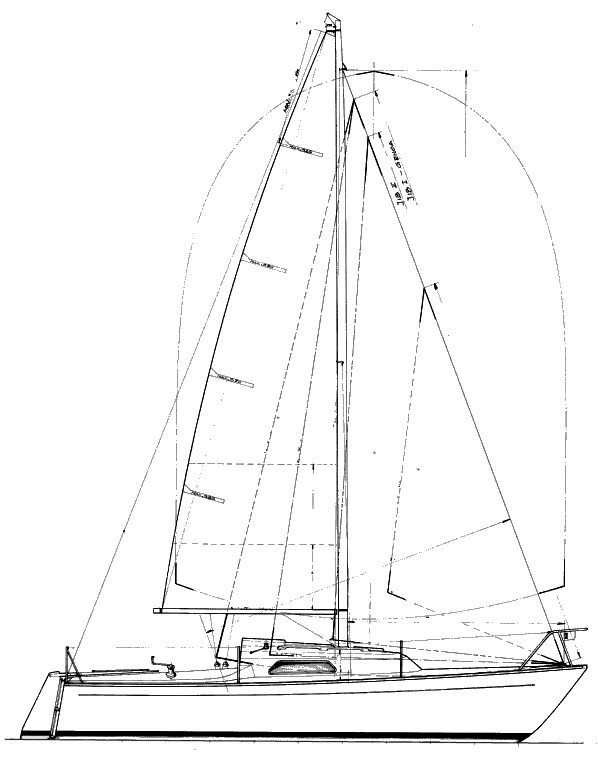 Oceaan 22 drawing on sailboatdata.com