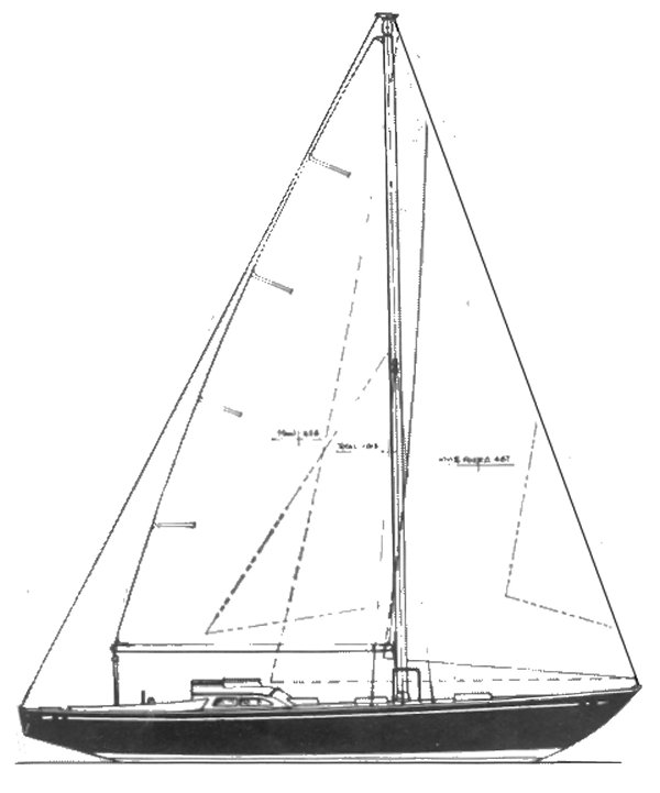 Oceanic 48 (Tripp) drawing on sailboatdata.com