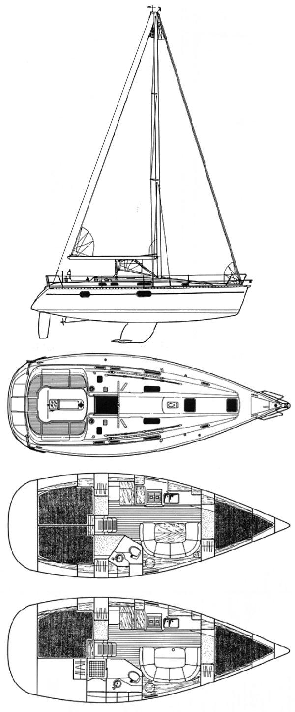 OCEANIS 351 (BENETEAU) drawing