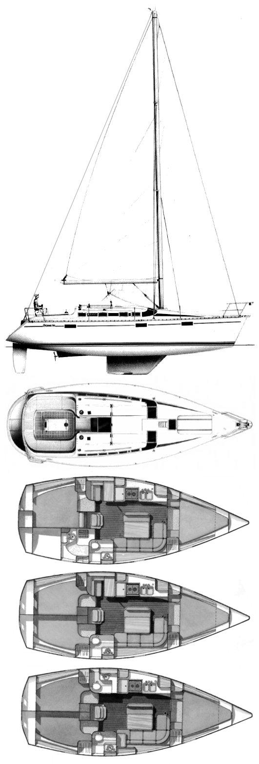 OCEANIS 370 (BENETEAU) drawing