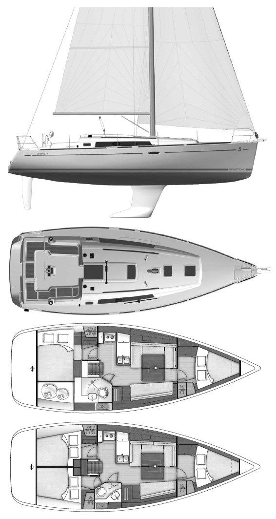 OCEANIS 37 (BENETEAU) drawing