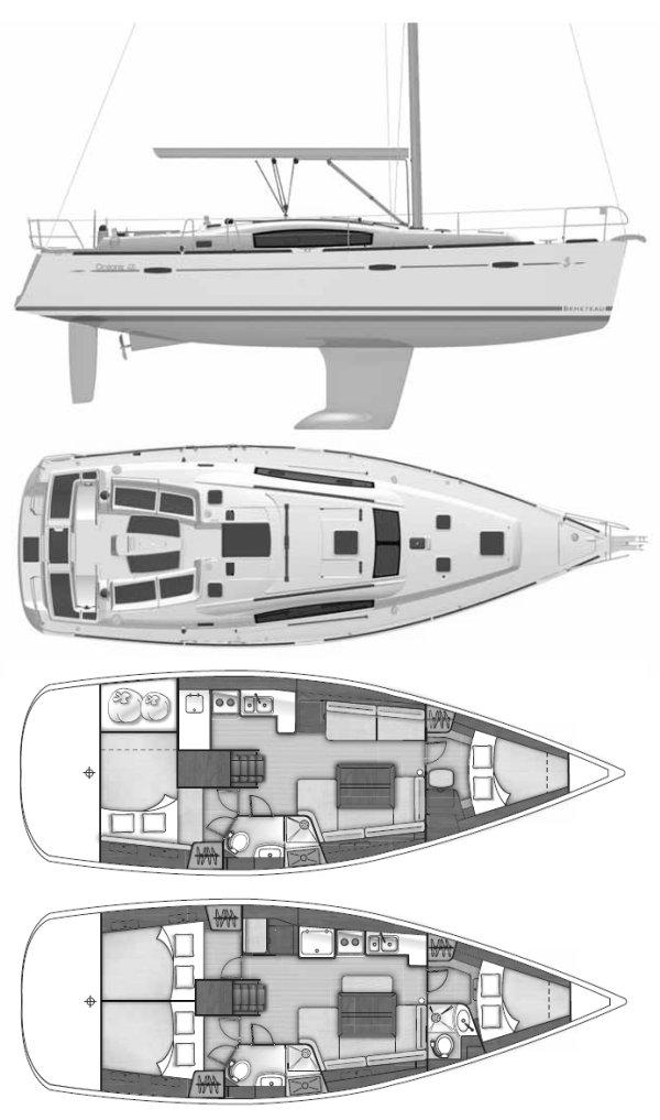 OCEANIS 40 (BENETEAU) drawing