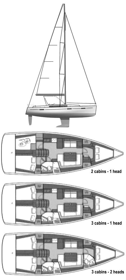 OCEANIS 41 (BENETEAU) drawing