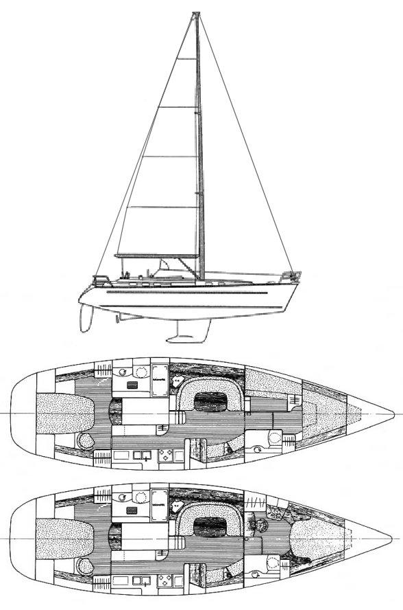 OCEANIS 44 CC (BENETEAU) drawing