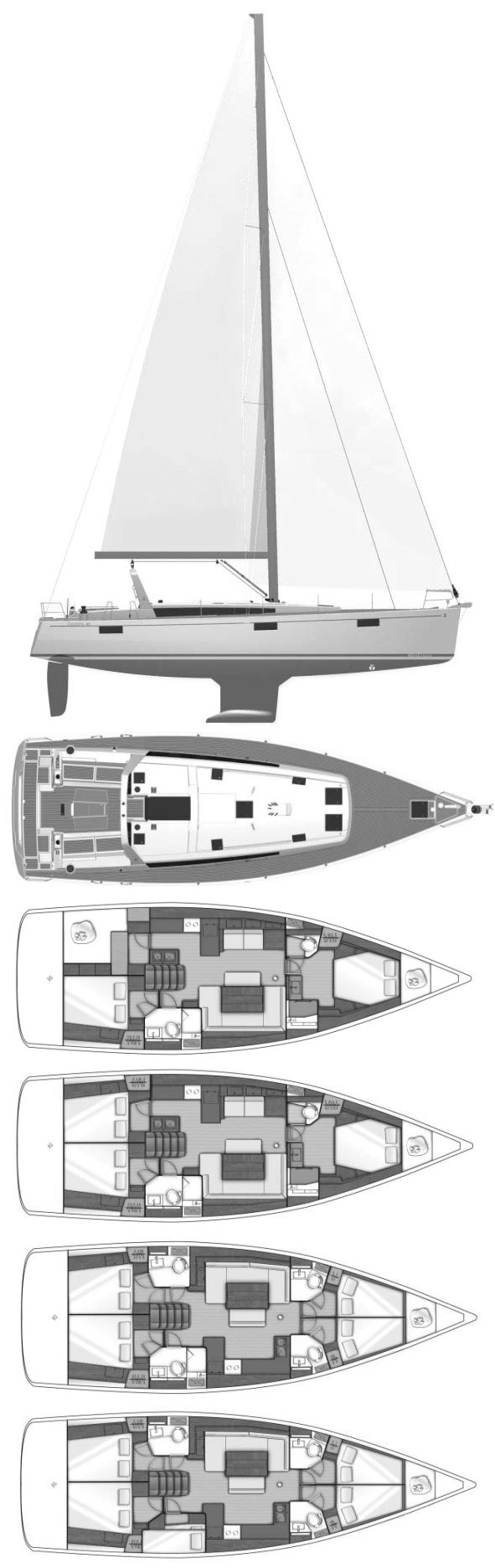 OCEANIS 48 (BENETEAU) drawing