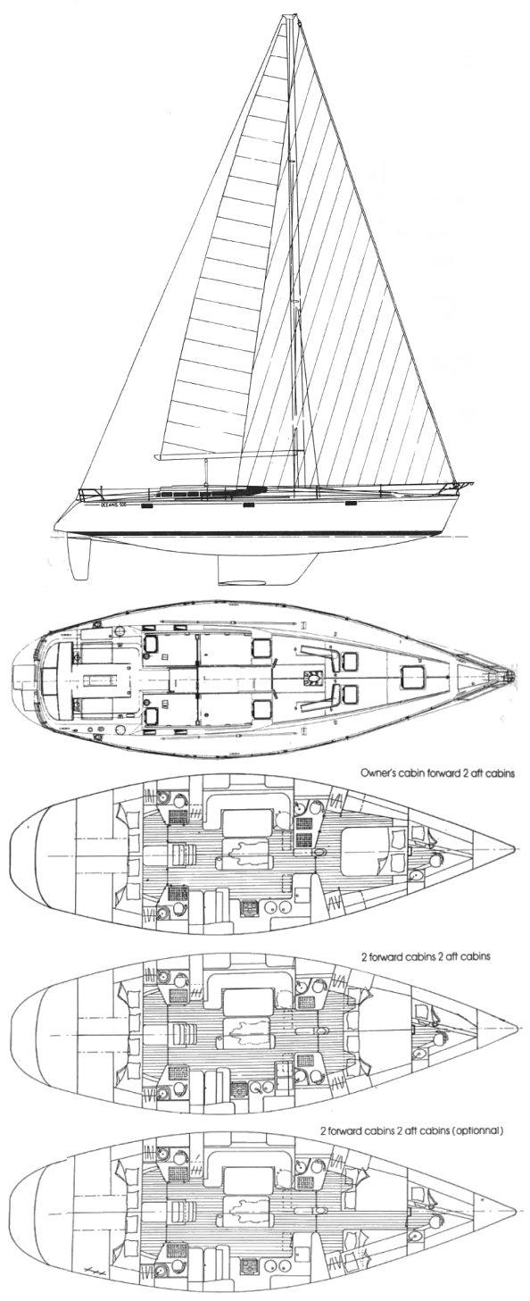 OCEANIS 500 (BENETEAU) drawing
