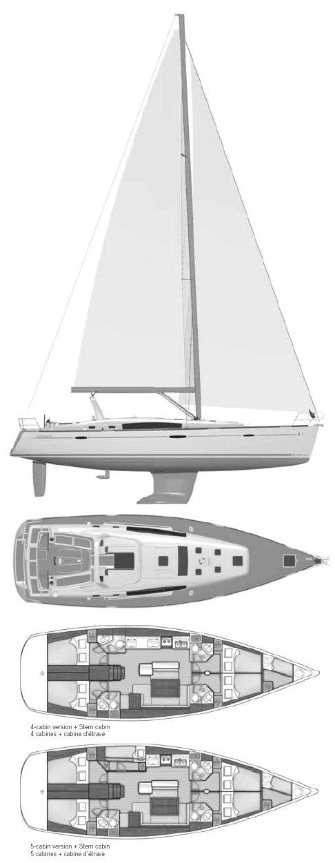 OCEANIS 50 (BENETEAU) drawing