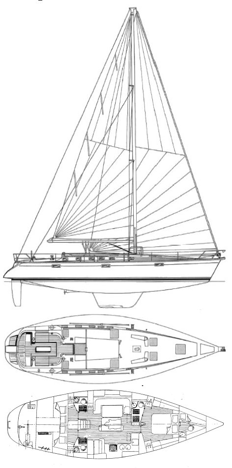 Oceanis 510 drawing on sailboatdata.com
