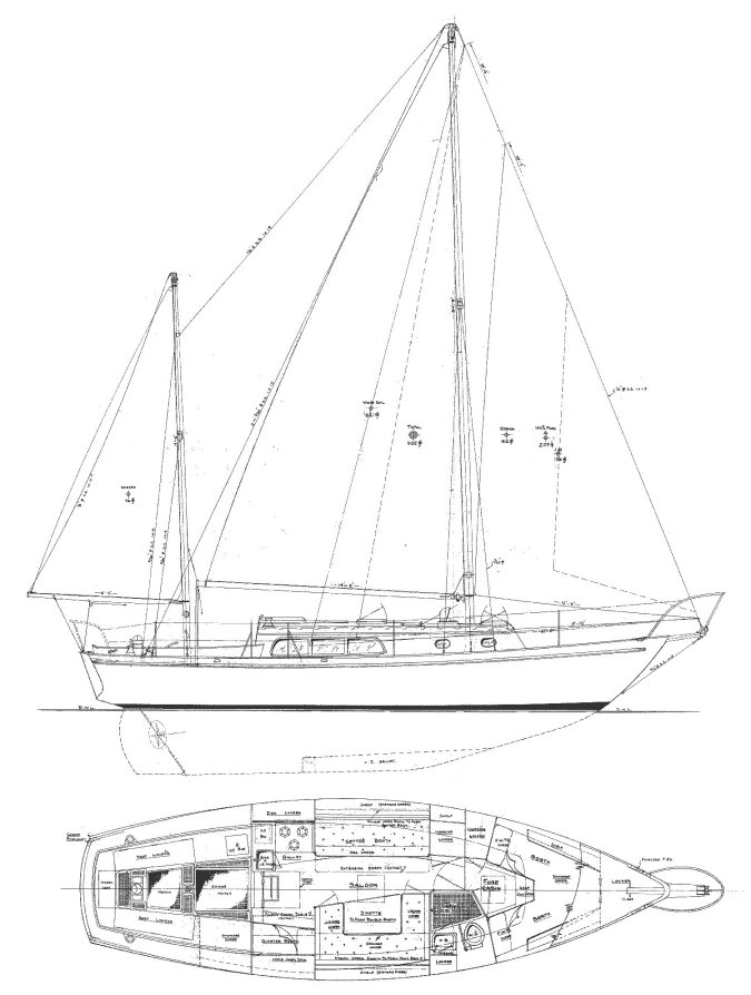 OFFSHORE 33 (CHEOY LEE) drawing