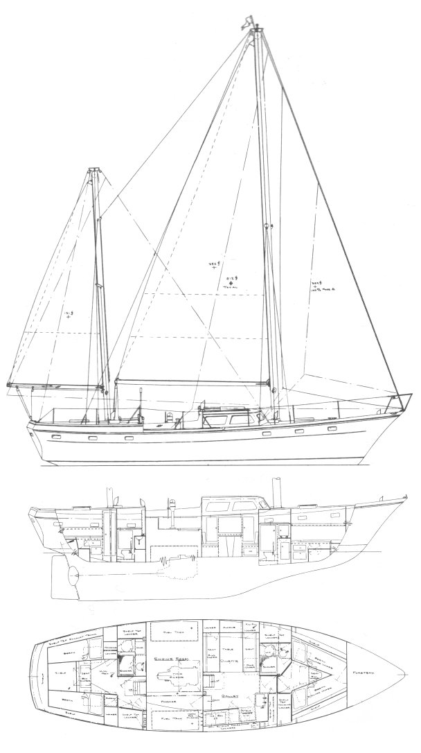 OFFSHORE 44 (CHEOY LEE) drawing