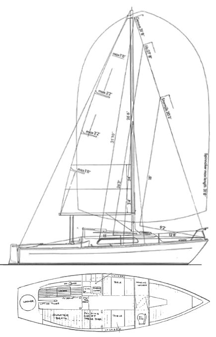 Offshore 8 meter drawing on sailboatdata.com
