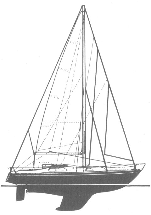 Ohlson 29 drawing on sailboatdata.com