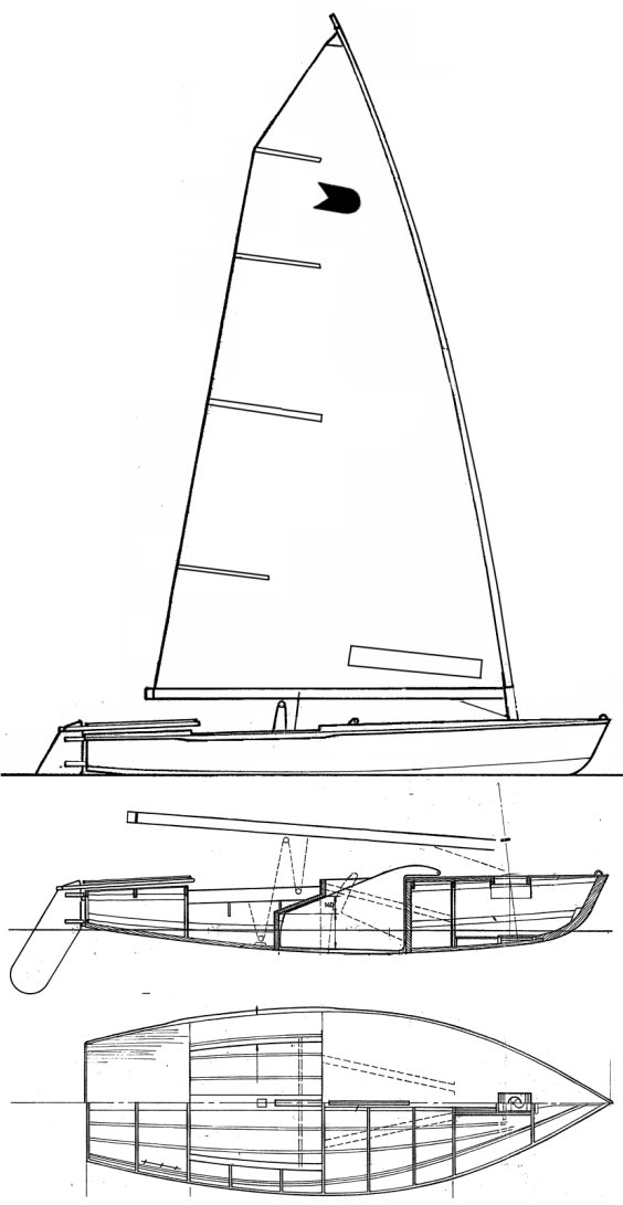 OK Dinghy drawing on sailboatdata.com