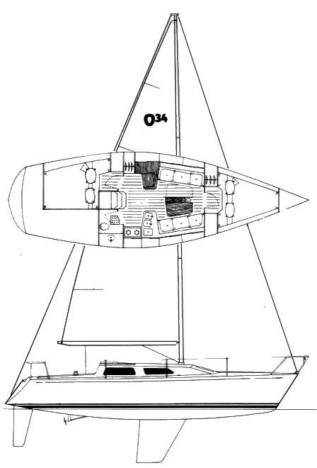OLSON 34 drawing