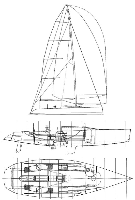 One Design 48 drawing on sailboatdata.com