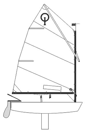 OPTIMIST DINGHY (INT) drawing