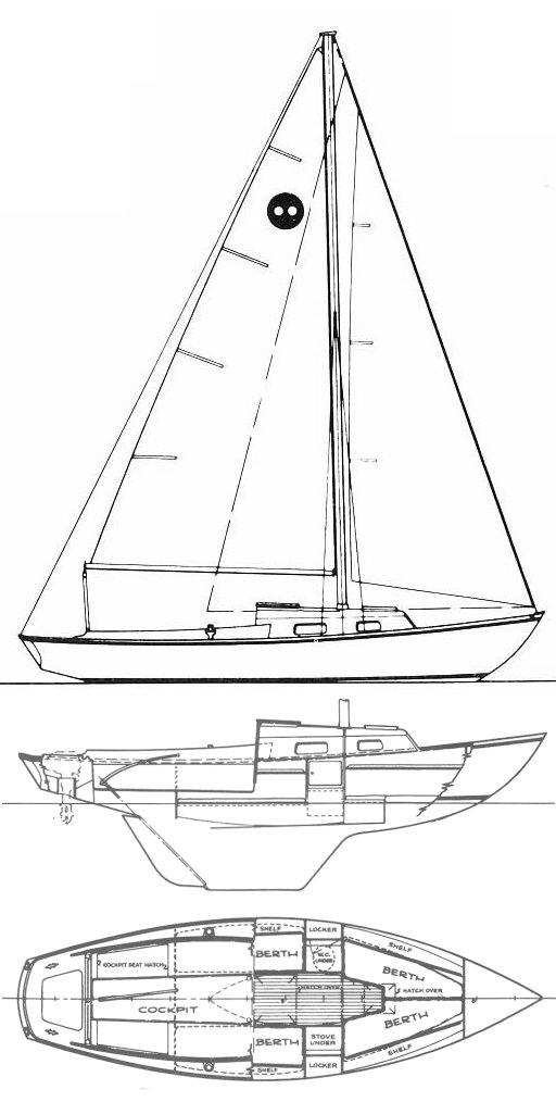 Outlaw 26 (O'Day) drawing on sailboatdata.com