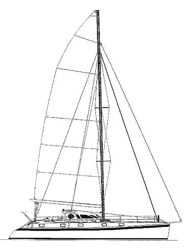 Outrienmer 55 drawing on sailboatdata.com