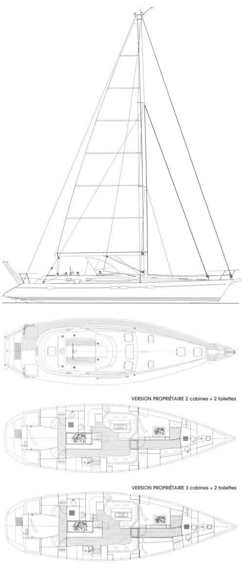 Ovni 455 cc drawing on sailboatdata.com