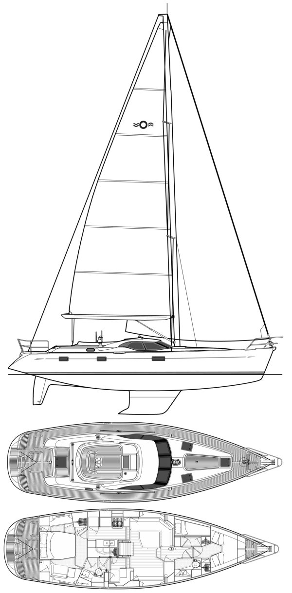 OYSTER 475 drawing