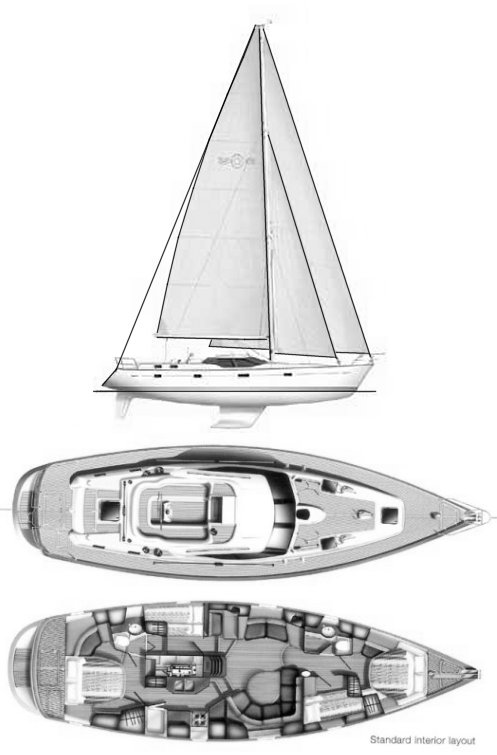 Oyster 53 drawing on sailboatdata.com
