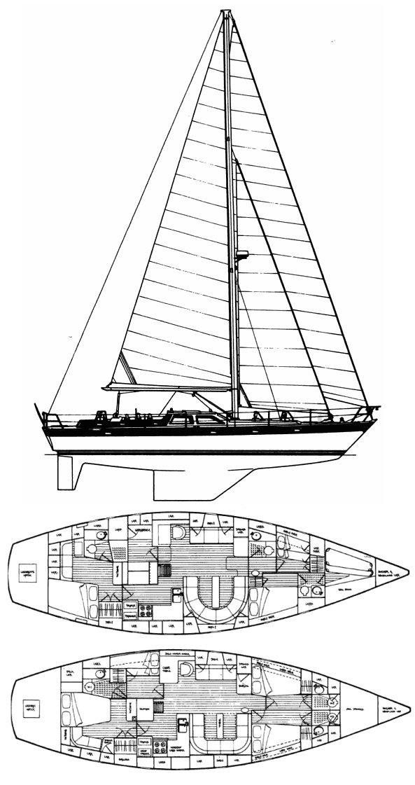 OYSTER 53 (HOLMAN & PYE) drawing