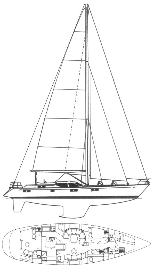 OYSTER 61 drawing