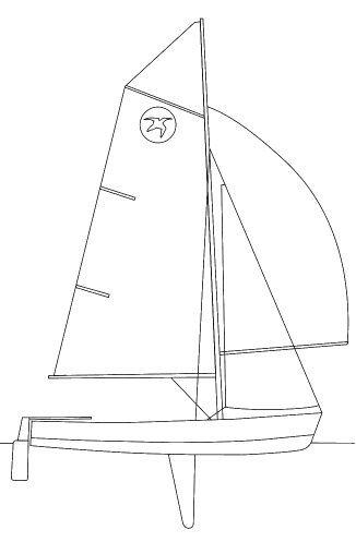 Pacer Dinghy drawing on sailboatdata.com