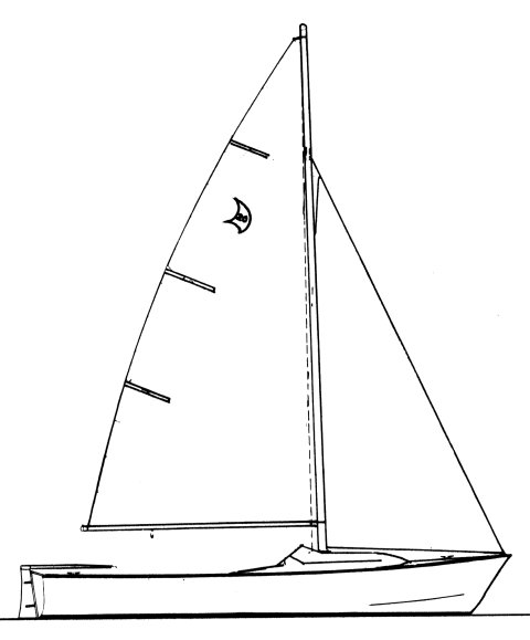 Paceship 20 drawing on sailboatdata.com
