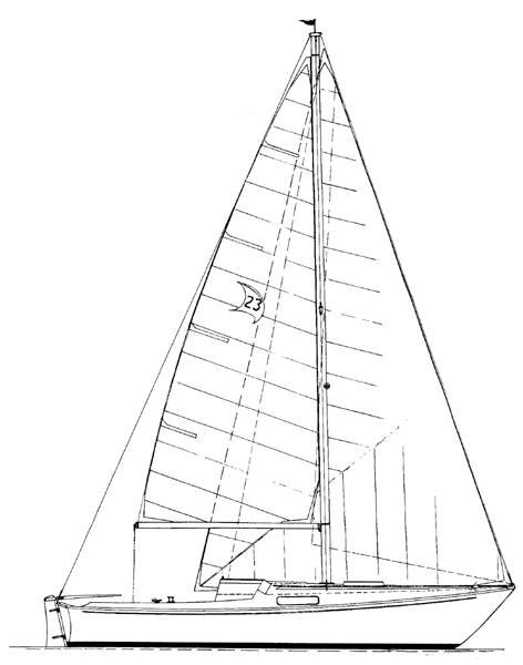 Paceship 23 (C&C) drawing on sailboatdata.com