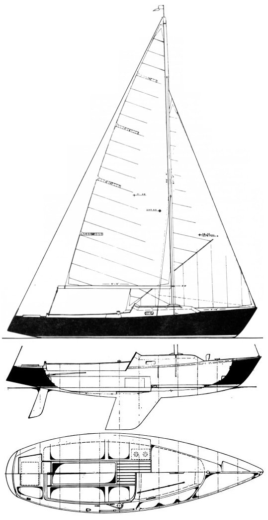 BLUEJACKET 23 (PACESHIP) sailboat specifications and details on ...