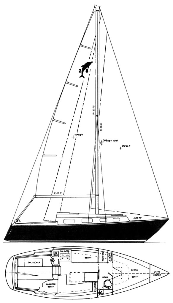 PACIFIC DOLPHIN 28 drawing