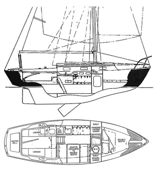 PACIFIC DOLPHIN 24 drawing