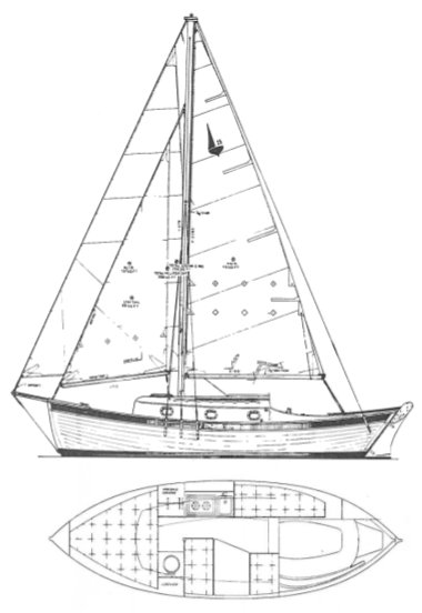 PACIFIC SEACRAFT 25-1 drawing