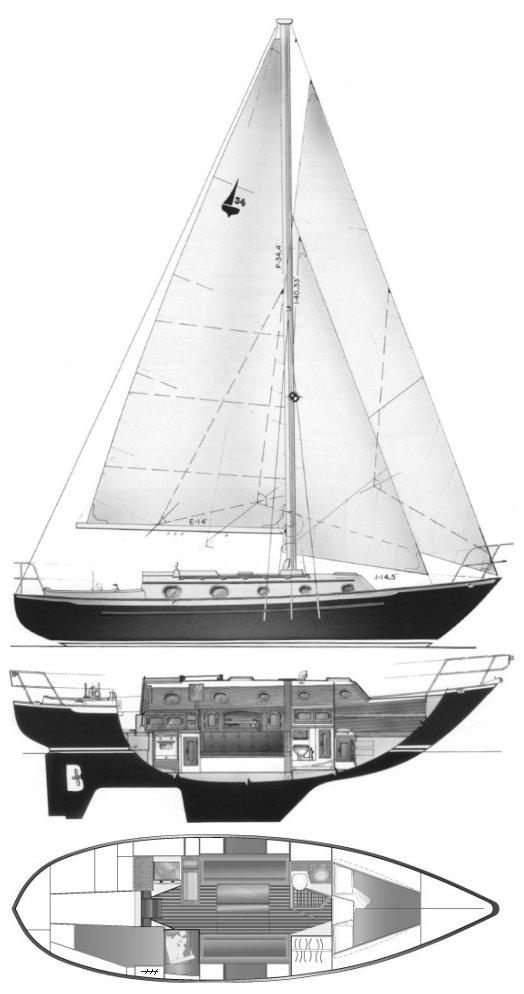 PACIFIC SEACRAFT 34 drawing