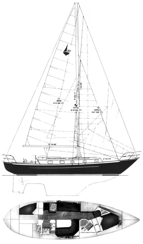 PACIFIC SEACRAFT 37 drawing